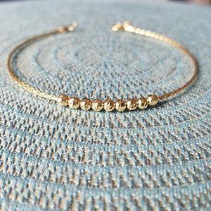 BNIB 18K Saudi Solid Gold Bracelet